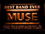 Best Band Ever MUSE LED Neon Sign - Orange - SafeSpecial