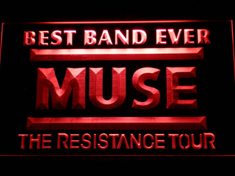 Best Band Ever MUSE LED Neon Sign - Red - SafeSpecial