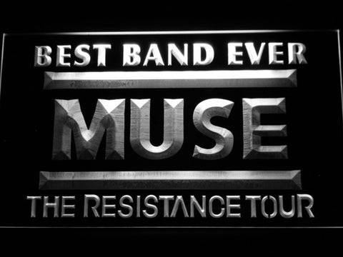 Best Band Ever MUSE LED Neon Sign - White - SafeSpecial