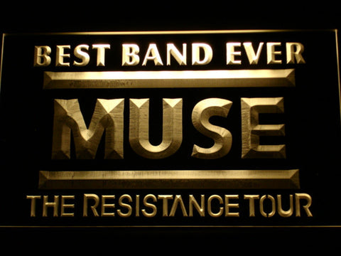 Best Band Ever MUSE LED Neon Sign - Yellow - SafeSpecial
