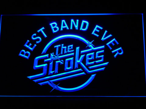 Best Band Ever The Strokes LED Neon Sign - Blue - SafeSpecial