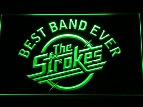 Best Band Ever The Strokes LED Neon Sign - Green - SafeSpecial