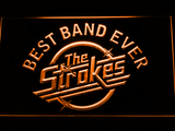Best Band Ever The Strokes LED Neon Sign - Orange - SafeSpecial