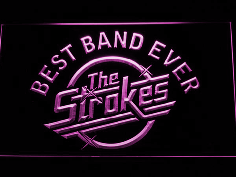 Best Band Ever The Strokes LED Neon Sign - Purple - SafeSpecial