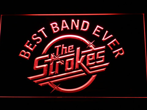 Best Band Ever The Strokes LED Neon Sign - Red - SafeSpecial