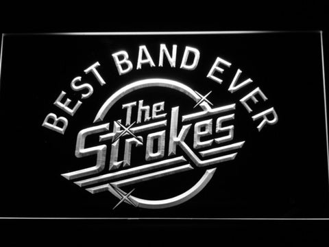 Best Band Ever The Strokes LED Neon Sign - White - SafeSpecial