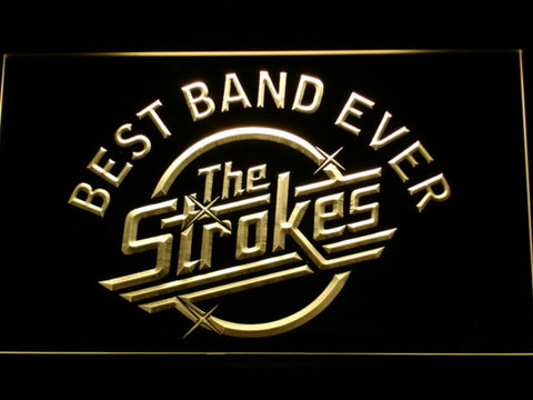 Best Band Ever The Strokes LED Neon Sign - Yellow - SafeSpecial