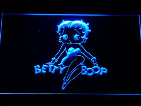 Betty Boop LED Neon Sign - Blue - SafeSpecial