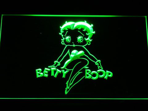Betty Boop LED Neon Sign - Green - SafeSpecial