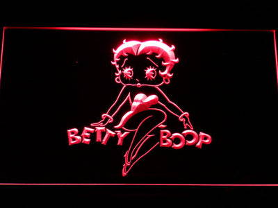 Betty Boop LED Neon Sign - Red - SafeSpecial