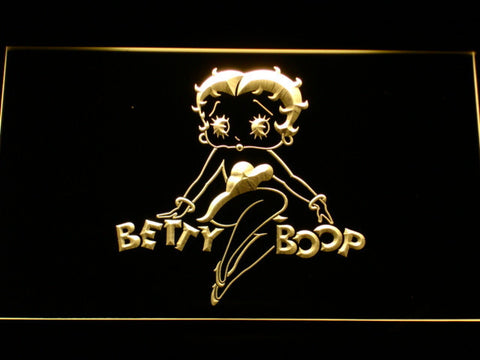 Betty Boop LED Neon Sign - Yellow - SafeSpecial