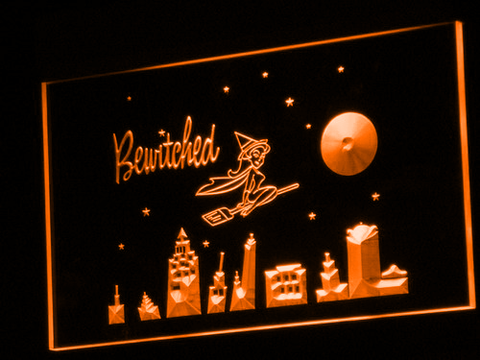 Bewitched LED Neon Sign - Orange - SafeSpecial