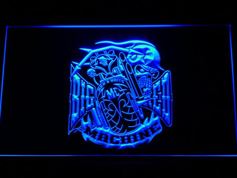 Big Red Machine LED Neon Sign - Blue - SafeSpecial