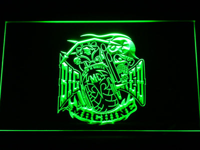 Big Red Machine LED Neon Sign - Green - SafeSpecial