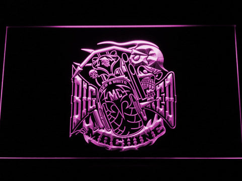 Big Red Machine LED Neon Sign - Purple - SafeSpecial