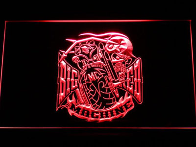 Big Red Machine LED Neon Sign - Red - SafeSpecial