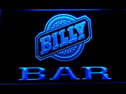Image of Billy Beer Bar LED Neon Sign - Blue - SafeSpecial