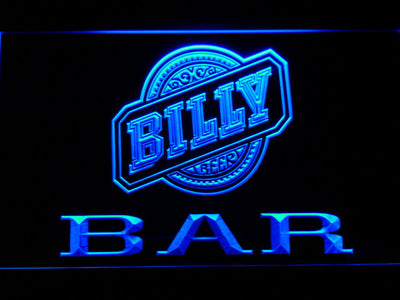 Billy Beer Bar LED Neon Sign - Blue - SafeSpecial