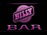 Billy Beer Bar LED Neon Sign - Purple - SafeSpecial