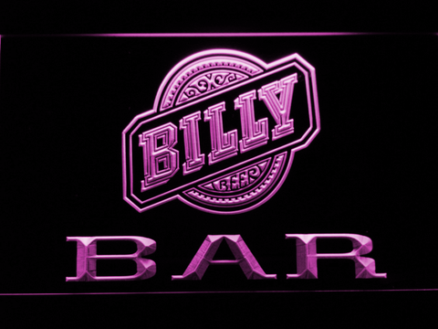 Image of Billy Beer Bar LED Neon Sign - Purple - SafeSpecial