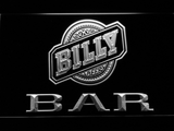 Billy Beer Bar LED Neon Sign - White - SafeSpecial