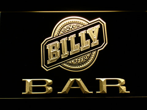 Billy Beer Bar LED Neon Sign - Yellow - SafeSpecial