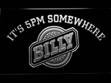Billy Beer It's 5pm Somewhere LED Neon Sign - White - SafeSpecial