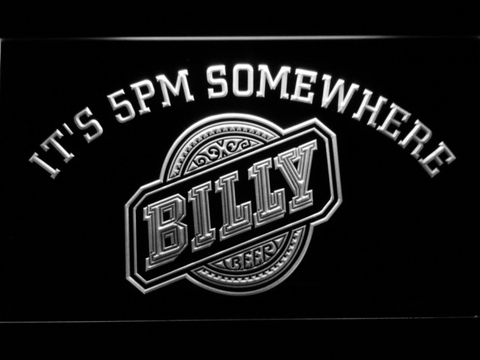 Image of Billy Beer It's 5pm Somewhere LED Neon Sign - White - SafeSpecial