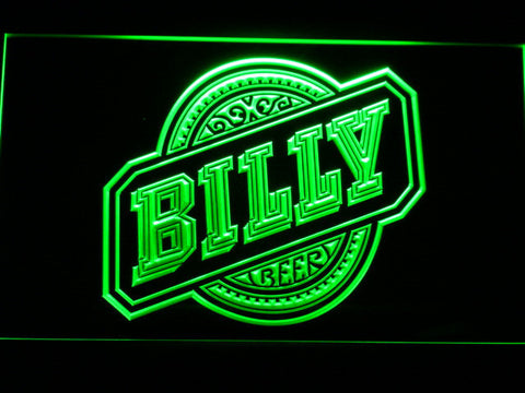 Billy Beer LED Neon Sign - Green - SafeSpecial