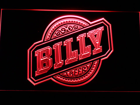 Billy Beer LED Neon Sign - Red - SafeSpecial