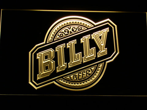 Billy Beer LED Neon Sign - Yellow - SafeSpecial