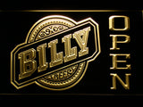Billy Beer Open LED Neon Sign - Yellow - SafeSpecial