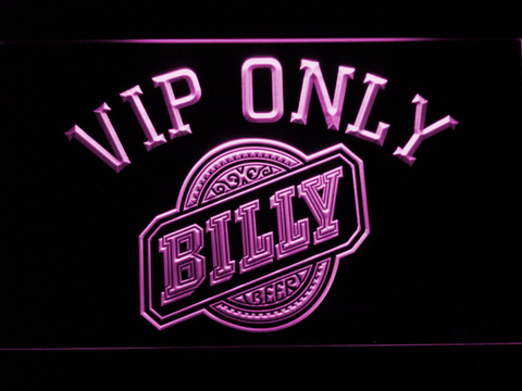 Billy Beer VIP Only LED Neon Sign - Purple - SafeSpecial