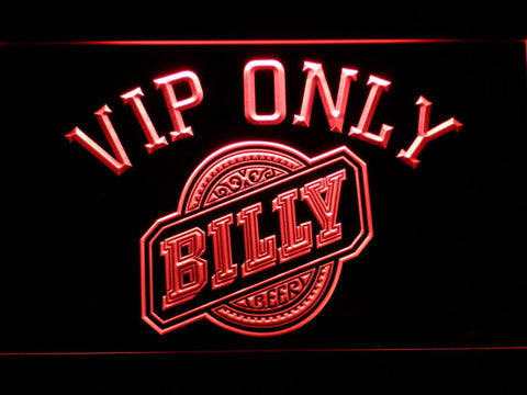 Billy Beer VIP Only LED Neon Sign - Red - SafeSpecial
