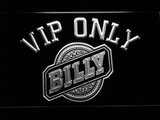 Billy Beer VIP Only LED Neon Sign - White - SafeSpecial
