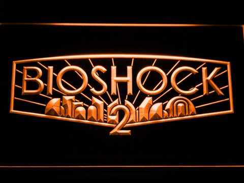 Image of Bioshock 2 LED Neon Sign - Orange - SafeSpecial