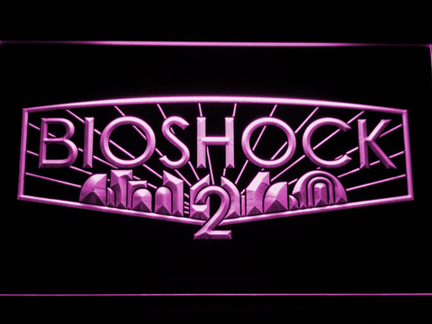 Image of Bioshock 2 LED Neon Sign - Purple - SafeSpecial