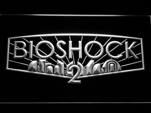Image of Bioshock 2 LED Neon Sign - White - SafeSpecial