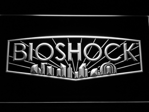 Bioshock LED Neon Sign - White - SafeSpecial