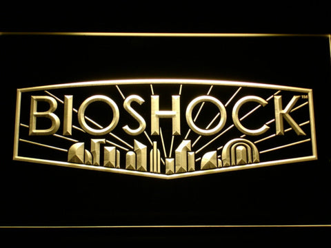 Bioshock LED Neon Sign - Yellow - SafeSpecial
