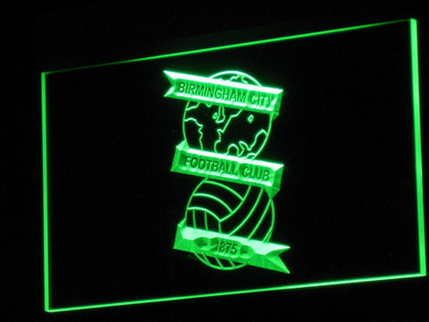 Image of Birmingham City Football Club LED Neon Sign - Green - SafeSpecial