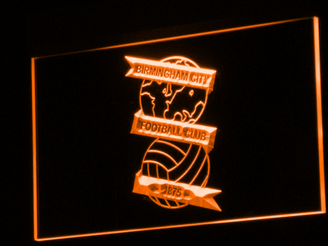 Image of Birmingham City Football Club LED Neon Sign - Orange - SafeSpecial