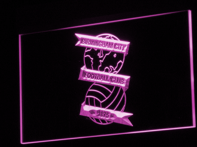 Birmingham City Football Club LED Neon Sign - Purple - SafeSpecial