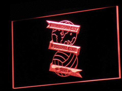 Image of Birmingham City Football Club LED Neon Sign - Red - SafeSpecial