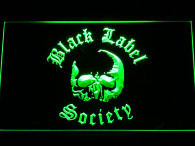 Black Label Society LED Neon Sign - Green - SafeSpecial