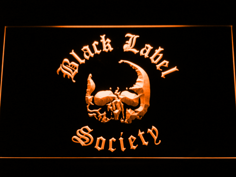 Image of Black Label Society LED Neon Sign - Orange - SafeSpecial