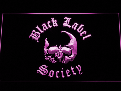 Image of Black Label Society LED Neon Sign - Purple - SafeSpecial