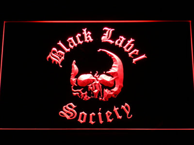 Black Label Society LED Neon Sign - Red - SafeSpecial