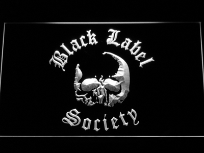 Black Label Society LED Neon Sign - White - SafeSpecial