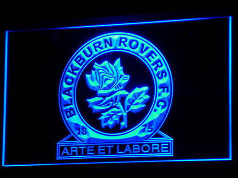 Blackburn Rovers FC LED Neon Sign - Blue - SafeSpecial